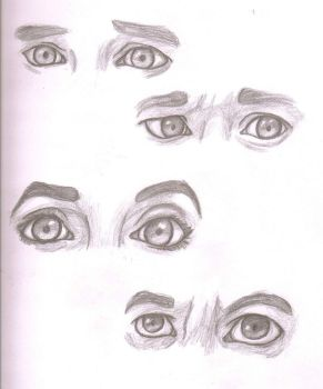 Sherlock Eye Sketches by AnimePortraits
