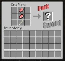 Minecraft Pork Sword by Roqd