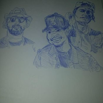 ScHoolboy Q, Chance the Rapper, and JID by Paulie-da-artist
