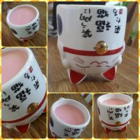 pink tea kitty  cup by CARBONATED-STARDUST