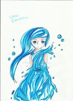 Water Elemental by Tashewa