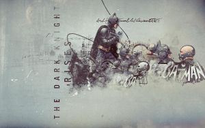 TDKR BATMAN VS. BANE by AshleyJoker
