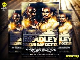 FREE Bradley vs. Marquez Flyer POSTER Template PSD by Industrykidz