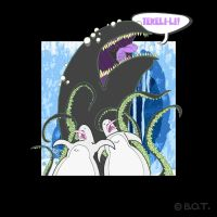 Mountains Of Madness 03 - Shoggoth and Penguins by iposterbot