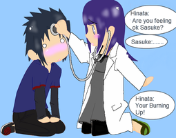 Sasuke and Hinata play doctor by Blackmoontiger