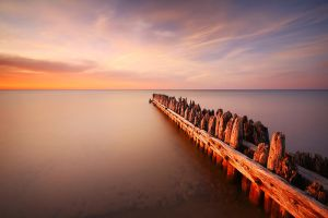 Old Pier at Crisp Point by tfavretto