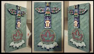 Canadian Indian Totem Wallhanging by mac2010