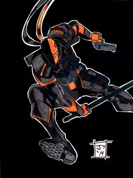 Deathstroke by John Yuan by TheYuanTwins