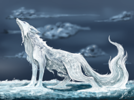 Water Element Fox V2 by kristhasirah