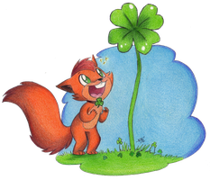 That is One Lucky Squirrel by Phoelion
