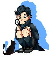 Kid!Sherlock by Nani-Mi