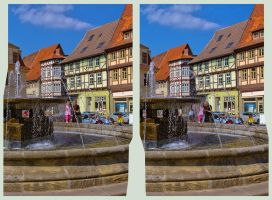Waterspout Fountain Quedlinburg 3D by zour