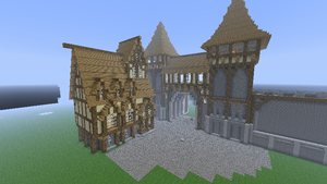 Main Entrance City with a first house. (minecraft) by Nosh0r