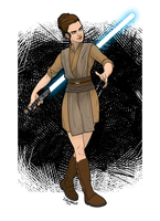 Jedi Leia by muzzillustrations