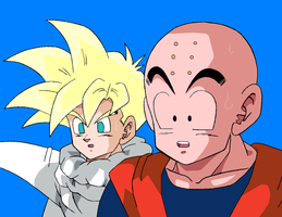 Krillin and Teen Gohan by Jarcuto