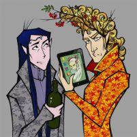 Thranduil, Elrond and... Thranduil by Tanmorna