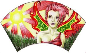 Faerie Fan: Summer by sufistuk8ed