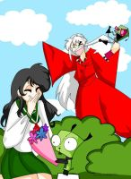 Inuyasha meets Invader Zim by Ellie177
