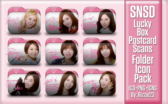 SNSD Lucky Box PC Scans Folder Icon Pack by Rizzie23