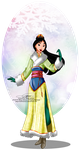 Winter Princess - Mulan by selinmarsou