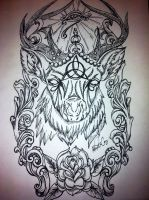 Stag Triquetra by underlineage-designs