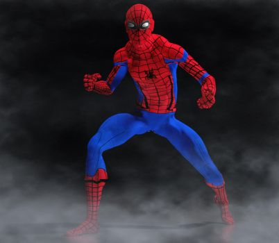 Spiderman civil war suit 2nd skin textures for M4 by hiram67