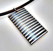 Baked Steel Necklace by Spexton