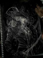 Lady Maria - BLoodborne the old hunters by Hollow-Moon-Art