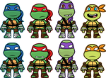 Chibi Turtles by DisfiguredStick