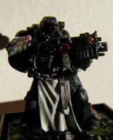 Black Templar Space Marine by pyramidrus