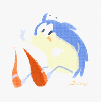 Little Sonic Doodle by sapphii