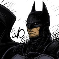 Digital Sketch Warm up 46 - Batman by Vostalgic