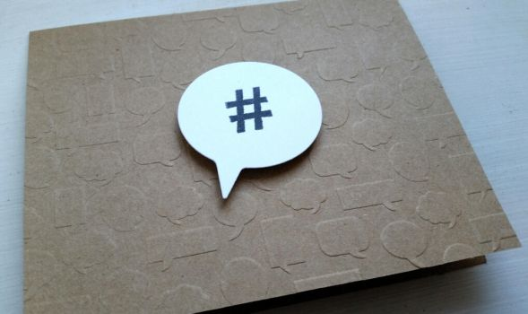 greeting card - hashtag by inconsistentsea