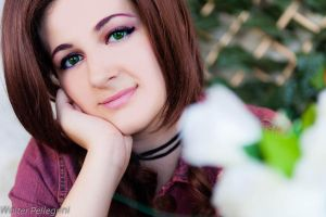 Aerith's smile by DianaBlack