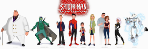 The Characters of Spider-Man of San Fransokyo by Percevanche