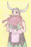 Stoick in an apron by LittleladyToph