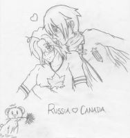 APH: Russia x Canada by Possessed-Puppet