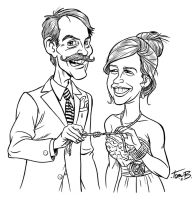 Wedding Caricature by tombancroft