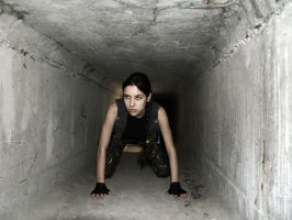 Lara Croft - tunnel by TanyaCroft