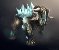 Bull Creature design by rEzblack