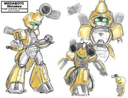 MEDABOTS Metabee sketches by NM8R-KJC