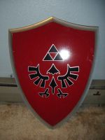 Red Hylian Shield by Ley-lee-meister