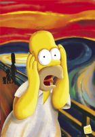 homer scream by melfranz