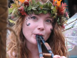 Faerie with Pipes by empty-phantom-stock