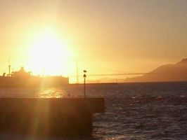 sunset over SF Bay by ComaGirl16