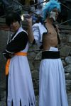 Grimmjow and Soi Fong Cosplay by SenninUzumaki