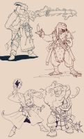Dragonborn sketches by Pachycrocuta