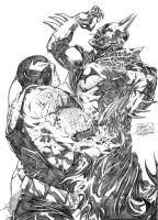 Batman vs. Bane by StevenVnDoom