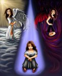 Good Versus Evil- The Choice by onelilmonkey654