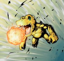 Agumon by sasakaz